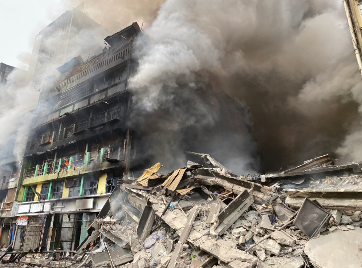 Balogun market fire outbreak