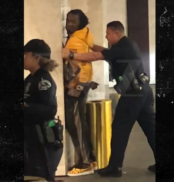 Moment rapper, Offset was arrested following report of a person with a gun at a shopping center