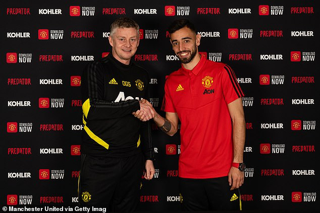 Official: Manchester United unveil new ?68m signing, Bruno Fernandes (photos)