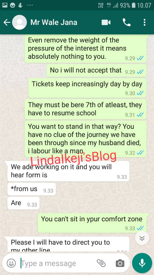 Exclusive: Widow cries out, accuses Wale Jana of blocking her and refusing to pay her back after she invested in his business