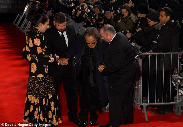Actor Al Pacino, 79, takes a tumble on the red carpet as he arrives at the BAFTAs (Photos)