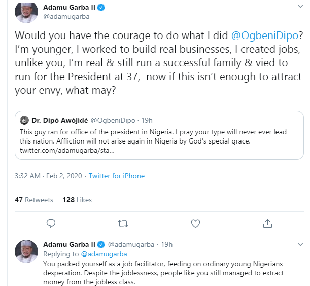 Former presidential aspirant, Adamu Garba tackled for saying Nigerians live a semi-slavery life abroad