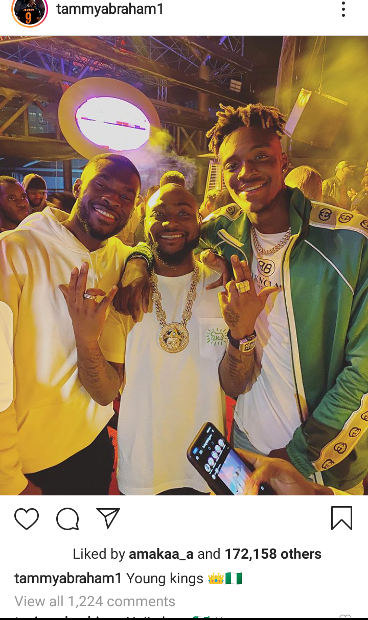 Chelsea stars Tammy Abraham & Fikayo Tomori pictured hanging out with Davido in Dubai (photos)