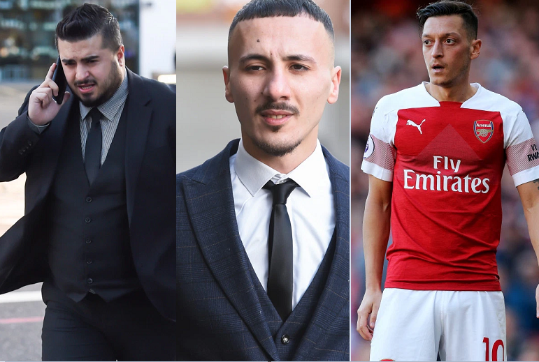 Two men appear in court for allegedly threatening to kill Arsenal football star Mesut Ozil