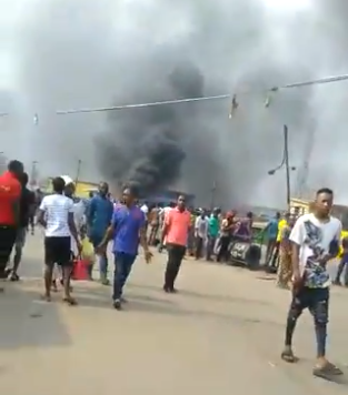 Riot in Iyana Ipaja as okada riders and police clash over okada ban