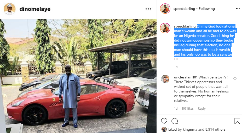 No man should have this much wealth when his only job was to be a senator - Speed Darlington slams Dino Melaye
