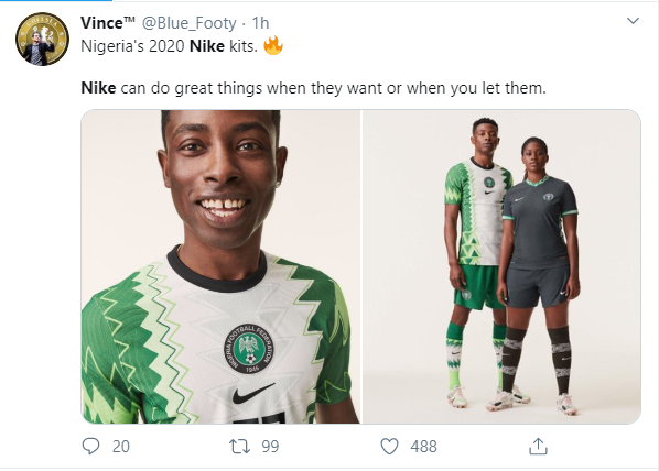 Nigerians applaud Nike as new Super Eagles jersey inspired