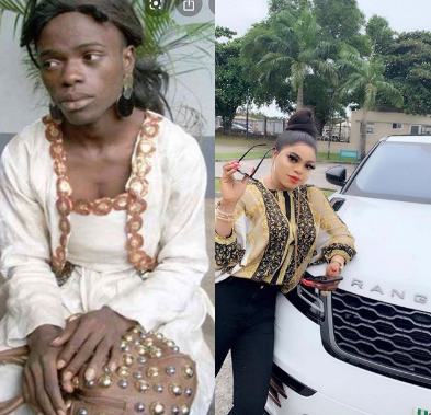 Bobrisky brags of his achievements as he shares his before and now photos