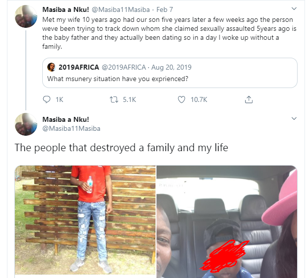 Husband calls out wife for allegedly
