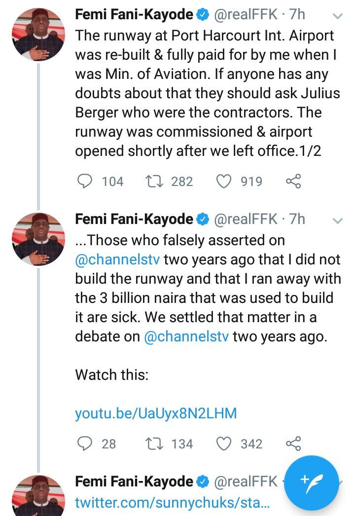 Femi Fani-Kayode responds again to Rotimi Amaechi