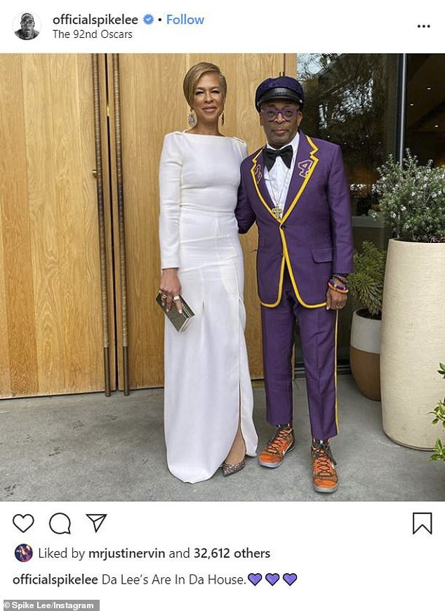 Spike Lee pays tribute to Kobe Bryant in custom Oscars suit (photos)