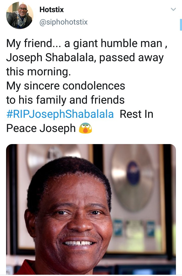 South Africans mourn Joseph Shabalala, Ladysmith Black Mambazo founder who died aged 78
