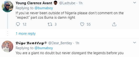 Nigerians react after Burna Boy says he