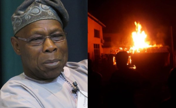 Fires razes a section of Obasanjo