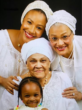 Aww! Check out this beautiful four generation photo