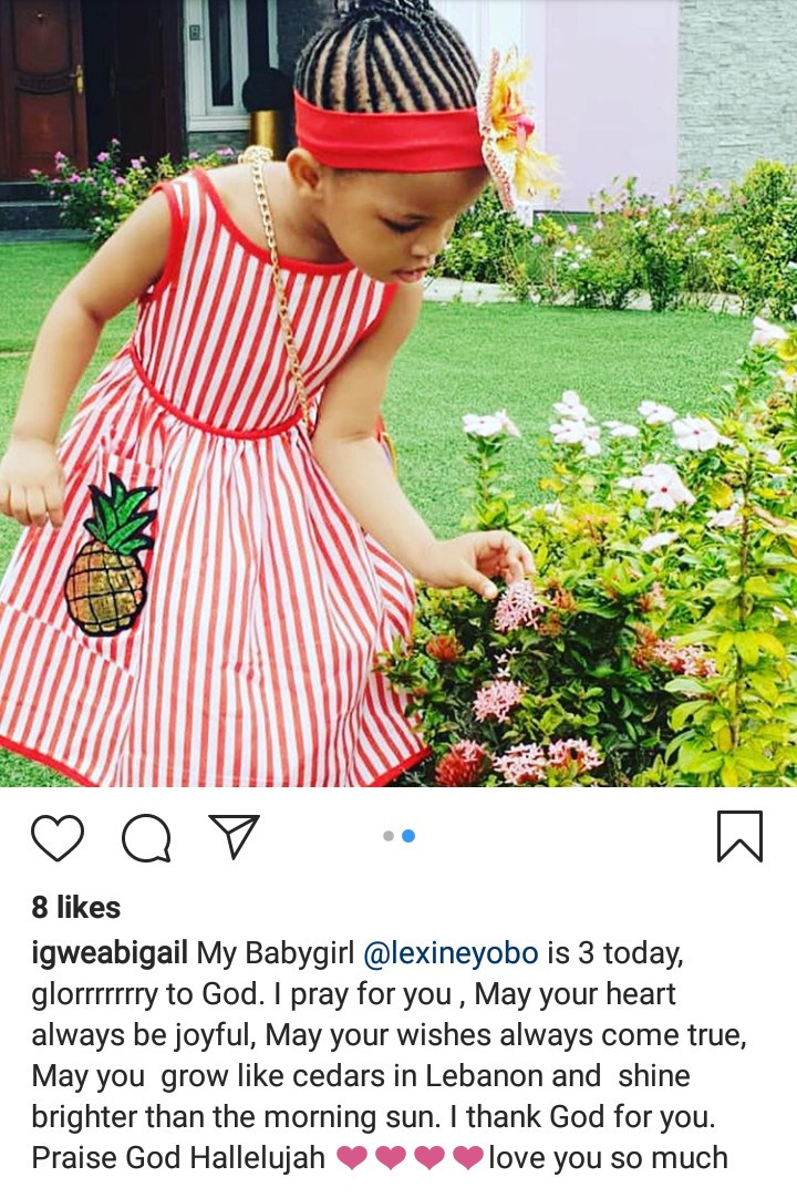 """Your birthday always comes with pleasant surprises"" Joseph Yobo celebrates his daughter after he was confirmed as the new NFF assistant coach"