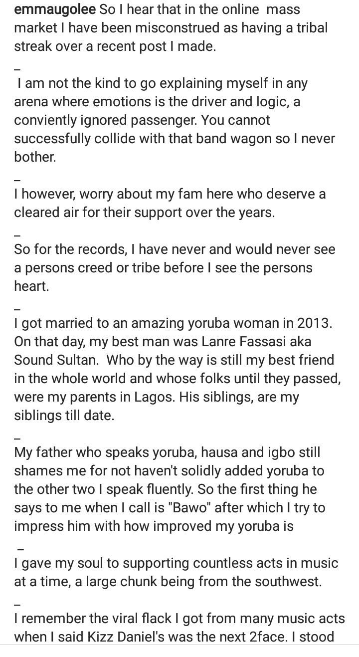 Emma Ugolee responds to accusations that he