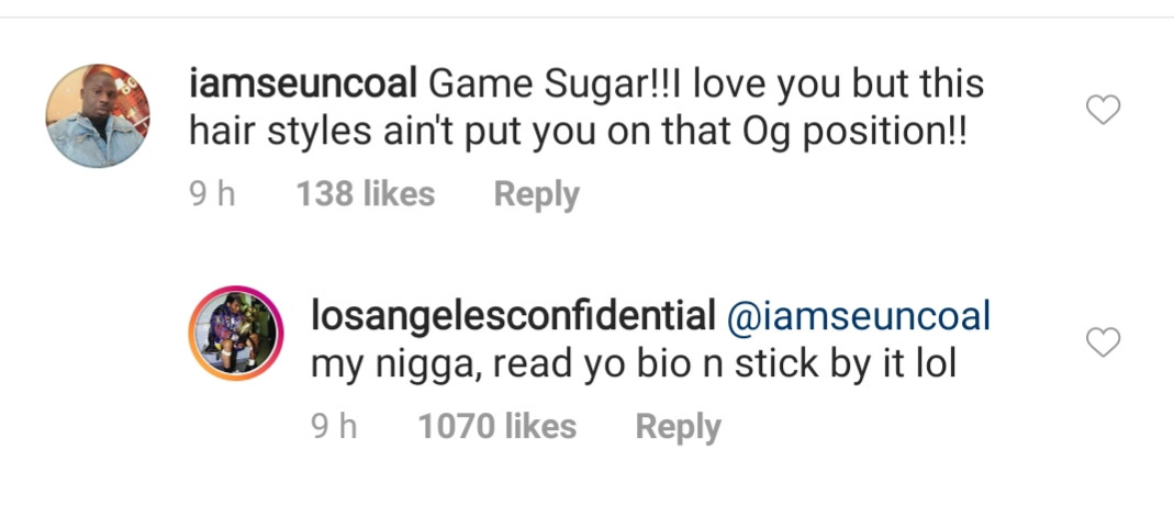 Between American rapper, The Game and a Nigerian man on IG