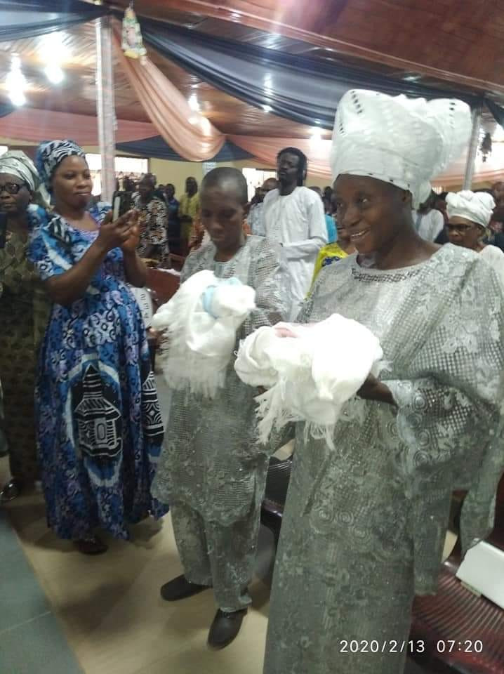Nigerian couple welcome twins after 31 years of marriage