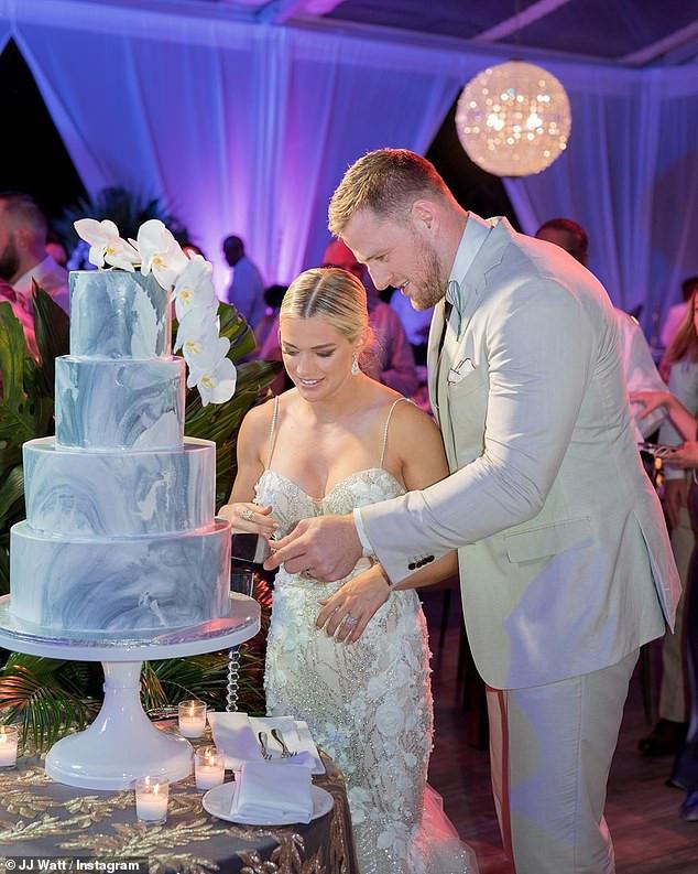 NFL star J.J. Watt shares photos from his Bahamas wedding to soccer star Kealia Ohai