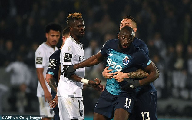 UPROAR AT PORTUGUESE  LEAGUE AT THE WEEKEND AS RACISM TOOK THE OTHER OF THE DAY AGAINST MOUSSA MAREGA