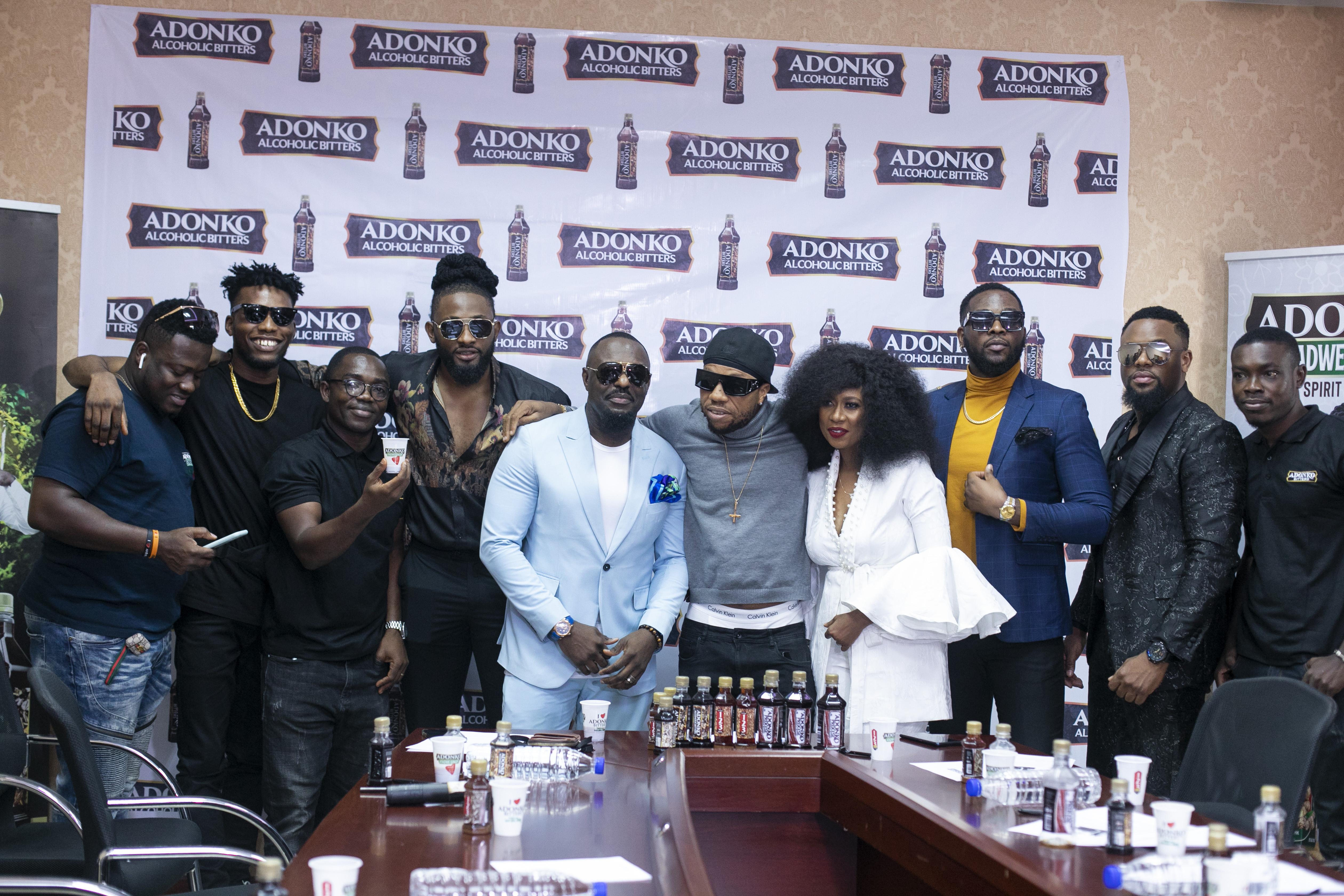 Adonko Bitters unveils Brand Ambassadors; names Jim Iyke, Ini Edo, Uti Nwachukwu, and Charles Okocha, Melvin Oduah, Victor AD, and Teddy A