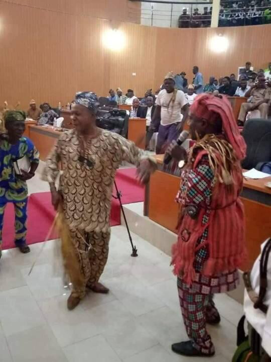 Amotekun commanders speak at Ekiti assembly in