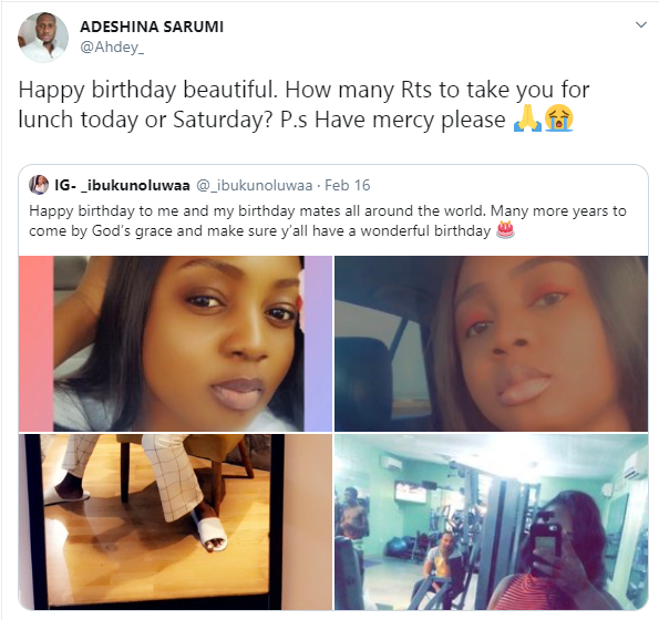 Ex-Special Adviser to Former Governor Ambode fulfills conditions of 200 retweets and paying N200k to go on lunch date with Twitter user