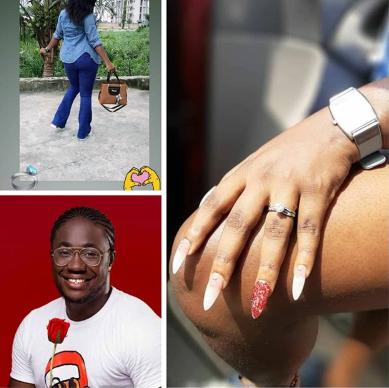 BBNaija star, Bitto gets engaged to his girlfriend (photos)