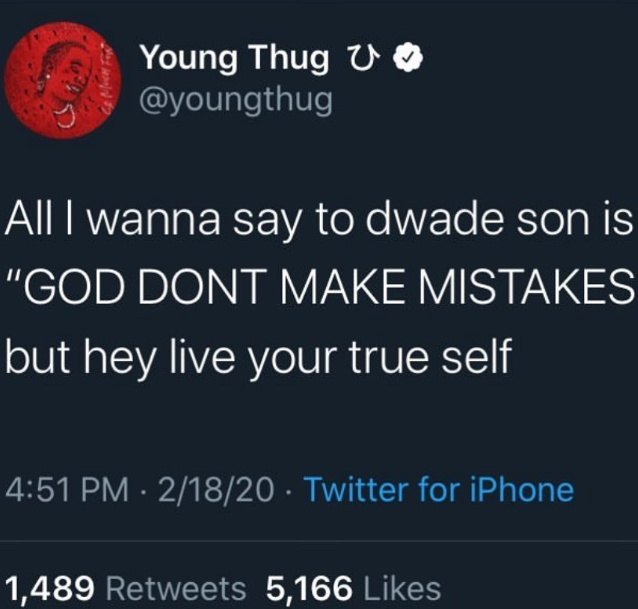 Young Thug receives backlash for his comment about Dwyane Wade