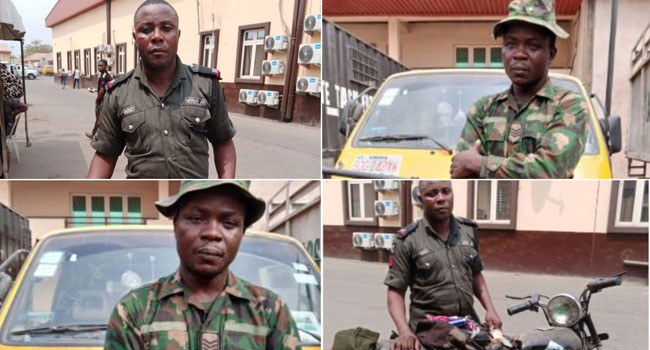 Okada ban: Fake soldier and policeman arrested  for using