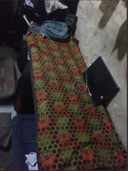 Student shocks Twitter users as he shows the state of his school hostel and how students sleep