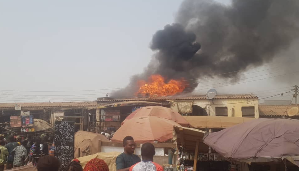 Shops destroyed as fire guts Jabi motor park, Abuja