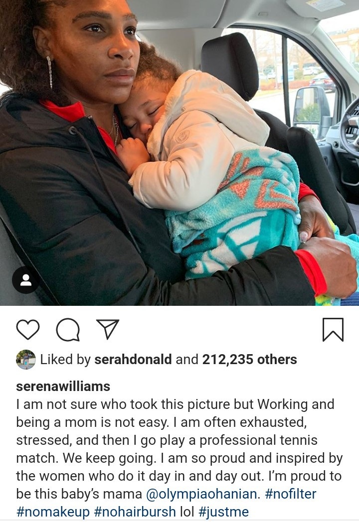 """""""Working and being a mum is not easy. I"""