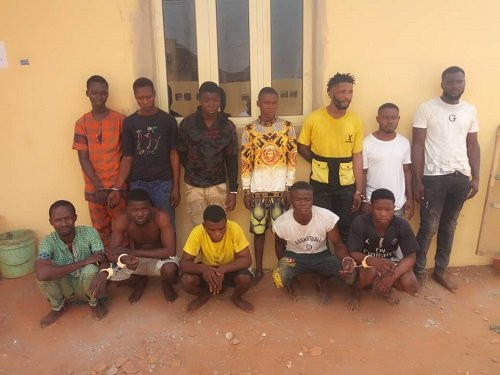 17 suspected cultists arrested in Lagos (photo)