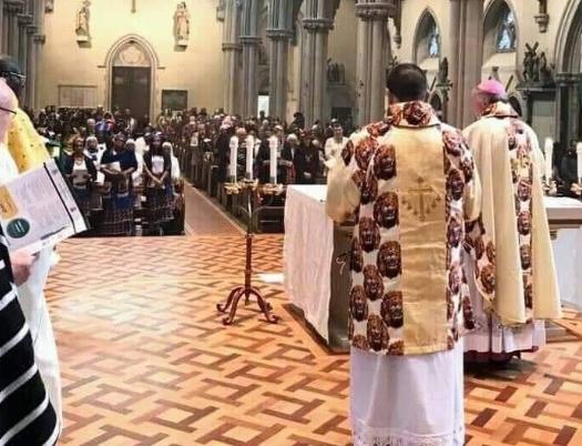PHOTOS: Catholic Bishop and Priests celebrate mass rocking Isi-Agu