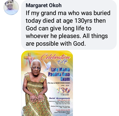 130-year-old woman laid to rest in Cross River state