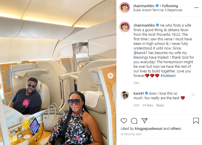 Since?Kani?became my wife, my blessings have tripled- Davido