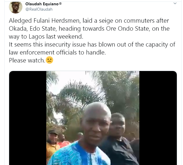 Alleged Fulani herdsmen lay siege for commuters in Edo State (video)