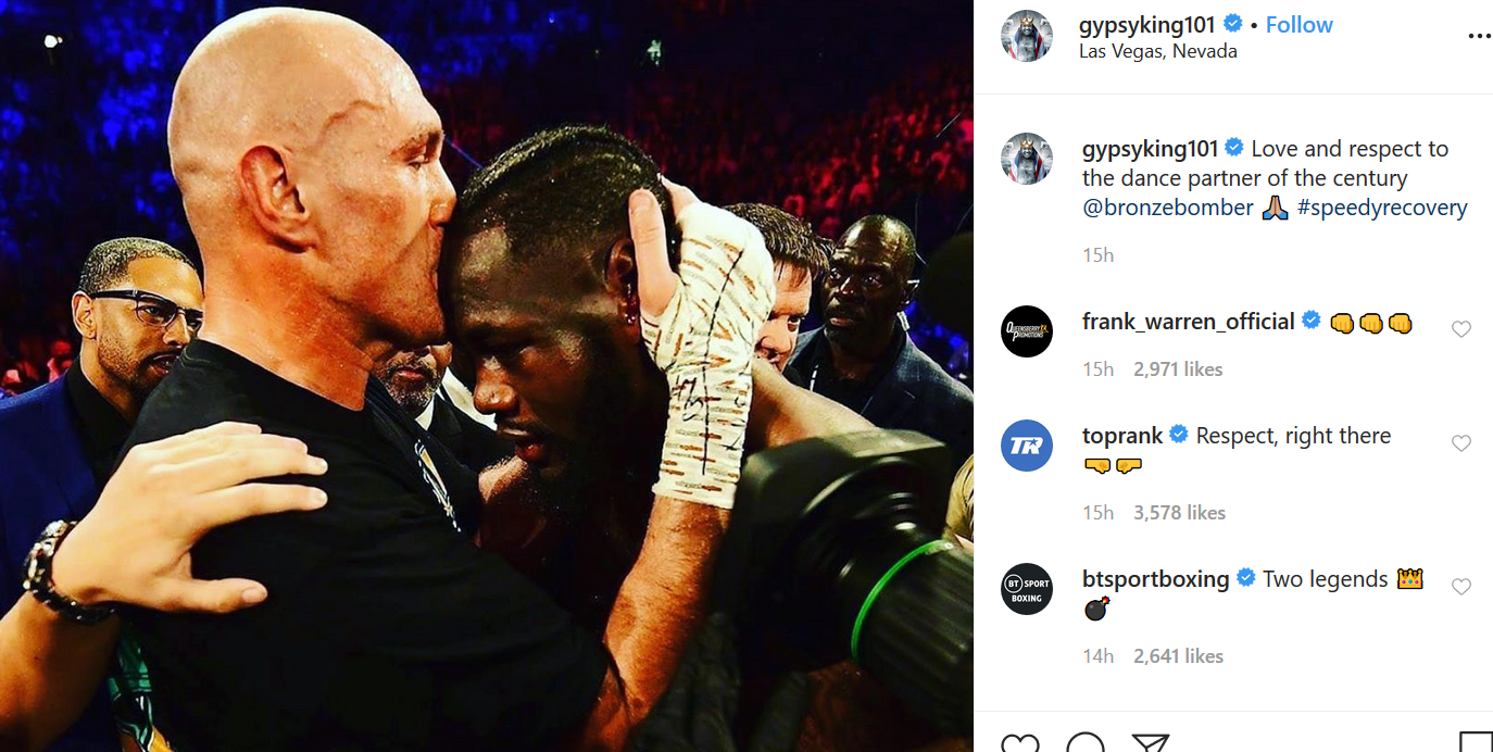 Tyson Fury makes his first social media post since his sensational win over Deontay Wilder, and it
