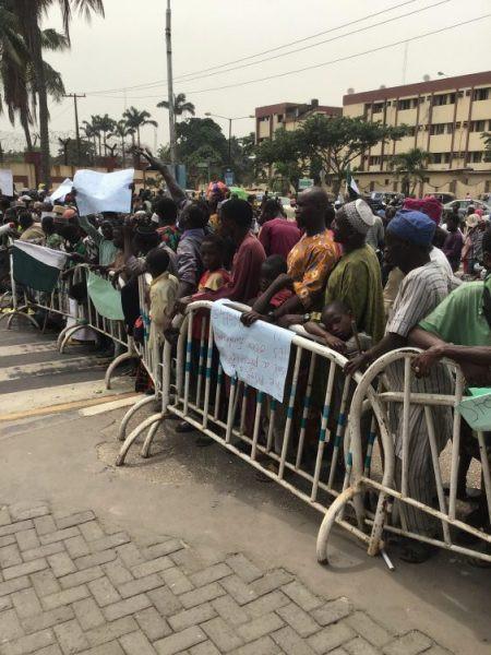 Lagos beggars protest at Governor Sanwo-Olu