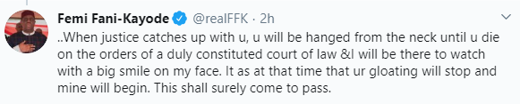 FFK drags Kayode Ogundamisi for mocking him after court convicted and sentenced Olisa Metuh