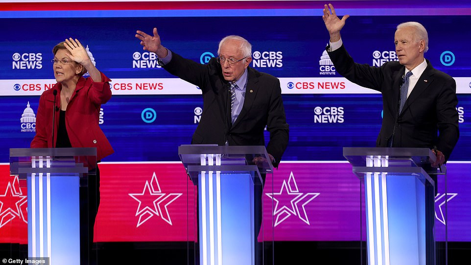 US Democratic presidential candidates shout at each other in messy debate as they turn on