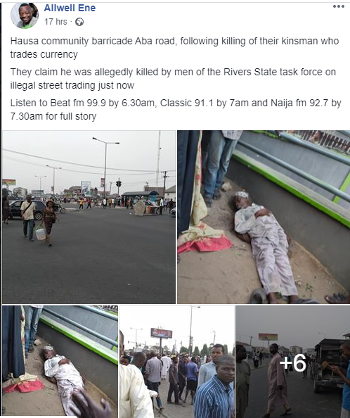 Task force officials allegedly beat man to death in Rivers State (graphic photo)
