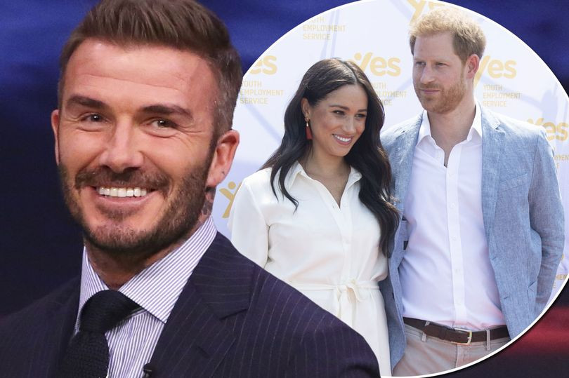 David Beckham says he is proud of Prince Harry for