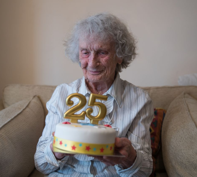 """Great-great-grandmother celebrates her """"25th birthday"""" today"""