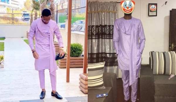Twitter user shares photo of outfit his colleague ordered vs what he got