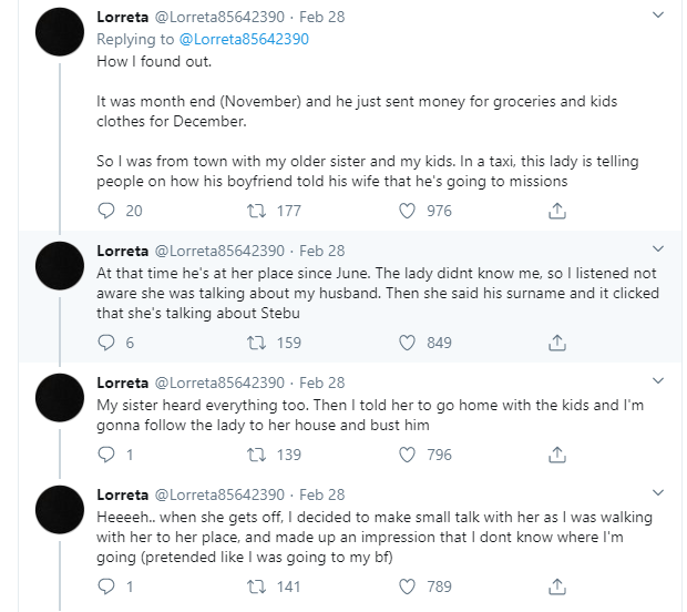 Lady narrates how she got to know that her soldier husband who said he was going for a mission, moved in with his side chick