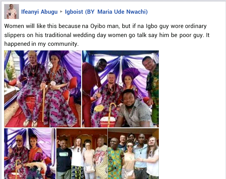 White man wears slippers at his traditional wedding to Nigerian lady in Enugu (photos)