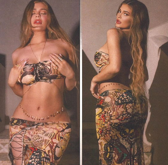 Kylie Jenner flaunts her body in a series of sultry photos?
